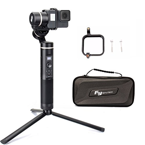 FY FEIYUTECH Feiyu G6 3-Axis Splash Proof Handheld Gimbal Updated Version of G5 for GoPro Hero 6/5/4/3/Session, Sony RX0, Yi Cam 4K, AEE Action Cameras of Similar Size with EACHSHOT Mini Tripod