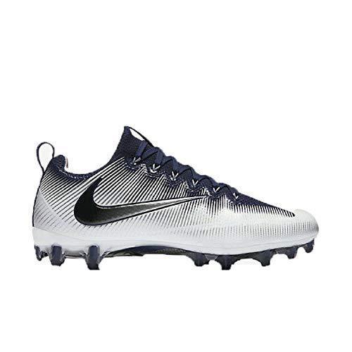 newest cea3f d0c61 Nike Vapor Untouchable Pro Men s Football Cleat-Midnight  Navy White Metallic Silver Black Size 13