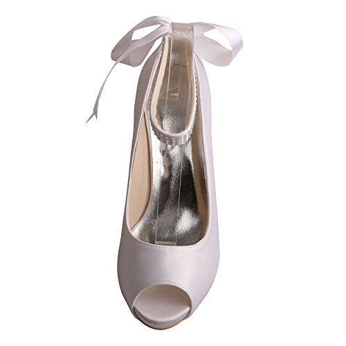Mujer Blanco Zapatos Wedopus Tacón De 1xqY7nvUvF