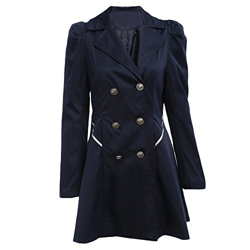 500 Gb Cart - Women Fashion Plus Size Solid Slim Double-Breasted Coat