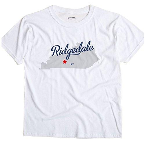 GreatCitees Ridgedale Kentucky KY MAP Unisex Souvenir T ()