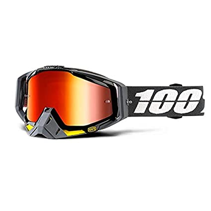 e3797748e0f Image Unavailable. Image not available for. Color  100% Racecraft Goggle + Mirrored  Lens-Fortis