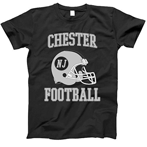 4INK Vintage Football City Chester Shirt for State New Jersey with NJ on Retro Helmet Style Black Size XX-Large (Shops Nj Chester)