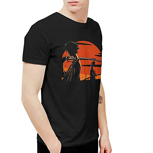 CLANN Afro Samurai Anime Short Sleeve T-Shirt Black 3XL]()