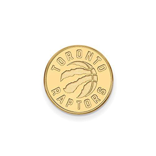 NBA Toronto Raptors Lapel Pin in 14K Yellow Gold by LogoArt