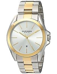 Akribos XXIV AK948TTG Women's Quartz Stainless Steel Automatic Watch, Two Tone