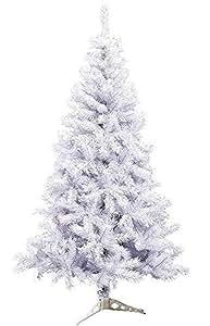 Árbol de Navidad Artificial árboles C/Soporte plástico 120-210cm (Blanco, 150cm 293Tips)