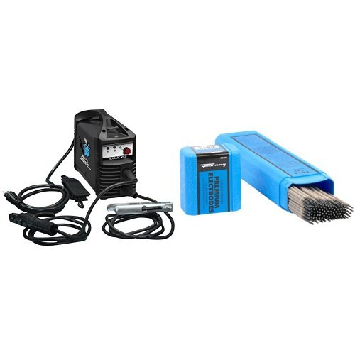 Blue Demon 90-Amp Inverter Style Stick and Tig Welding Machine with welding Rod, 3/32-Inch, 5-Pound
