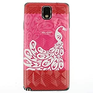 TOPAA Diamond Three-Dimensional Design Beauty Of the Peacock Pattern Hard Case for Samsung Galaxy Note 3