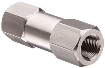Parker C Series Stainless Steel 316 Check Valve, 1 psi Cracking Pressure, NPT Female