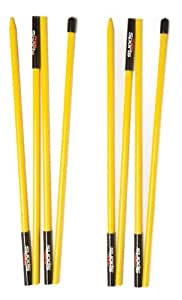 PrideSports Golf Alignment Stick (Set of 2), Lime Green