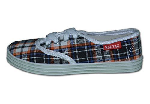 Red Tag , Jungen Sneaker, Mehrfarbig - Orange/Navy - Größe: 12 UK