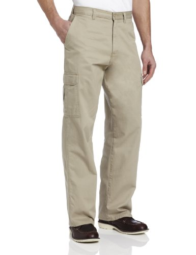 Dickies Men's Loose Fit Cargo Work Pant, Khaki, 42x32