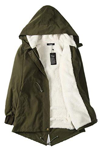 Vintage à costume longues capuche à matelassé hiver élégant glissière fermeture à vert automne matelassé veste chaud manteau mode Femmes manches doublé qFTBEE