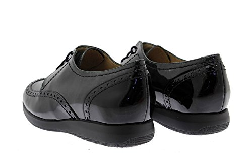 À Piesanto Amples Confort En Femme Lacets Chaussure Cuir black Negro 175630 Confortables x4YITn