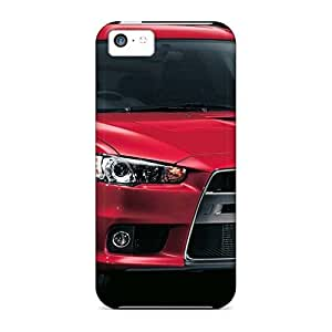 Designed phone carrying case cover Hd Strong Protect iphone 5c - front vehicles mitsubishi