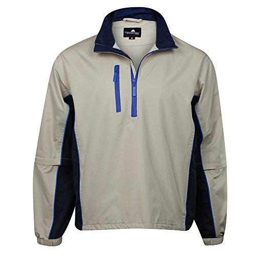The Weather Company Mens Microfiber Rain Shirt Stone/Navy 3XL