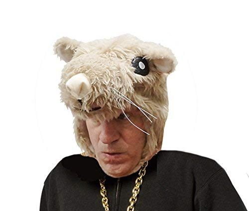 UHC Hamster Furry Mask Headpiece Hat Adult Halloween Costume Accessory]()