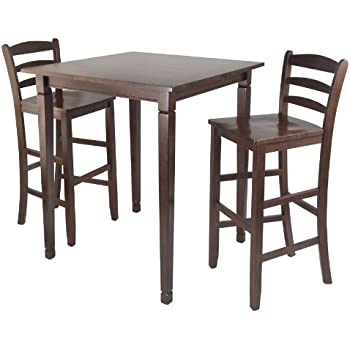 Winsome Kingsgate High/Pub Dining Table With Ladder Back High Chair, 3 Piece