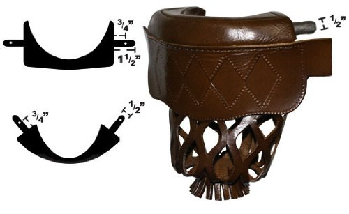 Leather Pool Table Pockets Diamond Shield (Set of 6) - Brown