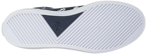 Lacoste Kids' Lerond Sneakers,Navy/White cotton canvas,5 M US Big Kid by Lacoste (Image #3)