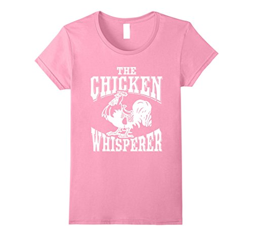 Womens The Chicken Whisperer Poultry Chef Funny Humor T Shirt Medium Pink ()