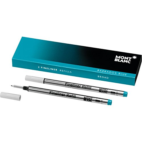 Montblanc Fineliner Refills Broad Barbados Blue Turqoise - Pack of 2