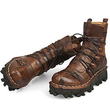Love & zapatos de hombre y deber de trabajo/zapatos al aire libre/oficina y carrera/Fiesta y tarde/vestido/casual piel botas negro/marrón marrón
