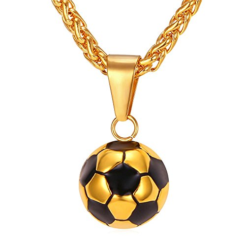 k Enamel & White Soccer Ball Pendant With 22 Inch Wheat Chain (22in Ball Chain)