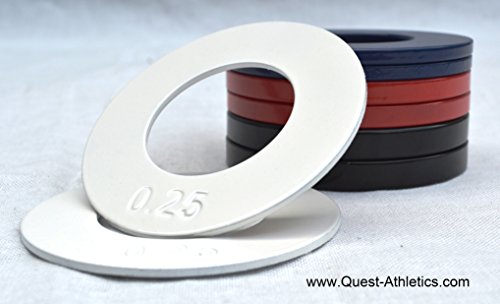 "Quest 2"" Olympic Fractional Plates Set (A Pair of Each: 1/4, 1/2, 3/4, 1.0 Lb)"