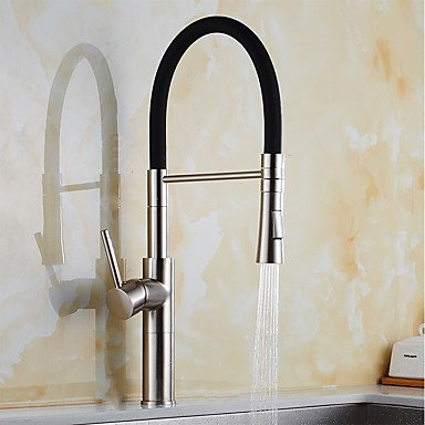 Contemporary Pull-out/Pull-down Standard Spout Vessel Widespread Rotatable Pull out withCeramic Valve Nickel Brushed Kitchen faucet Other Regions/Countries by Zheng