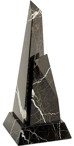 Bey-Berk T104L Black Zebra Marble Obelisk Trophy, ()