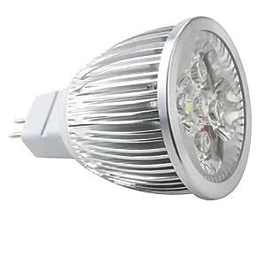 MR16 5*1w 5 LED White 6000-6500k Light Spot Bulb (12V)
