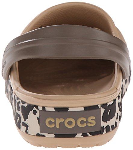 black Leopard Zuecos Crocband Adulto Crocs gold Unisex Oro Leopard CzxP50q1