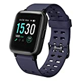 LETSCOM Fitness Tracker, Activity Tracker with Heart Rate Monitor, Pedometer, Sleep Monitor, Step Counter, Calorie Counter, Waterproof Smart Watch for Women Men
