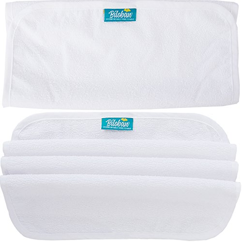 Changing Pad Liner Waterproof (3 Pack Large) - Hypoallergenic Cotton Terry Surface, Non Chemical & Washable (Pad Baby Changing Terry)