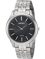 Seiko Mens Quartz Stainless Steel Casual Watch, Color:Silver-Toned (Model: SUP865)