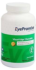 EyePromise vizual Edge Chewable - 3 Month Supply | Orange Flavored Performance Eye Vitamin with Zeaxanthin, Lutein & Vitamin D (Save 22%)