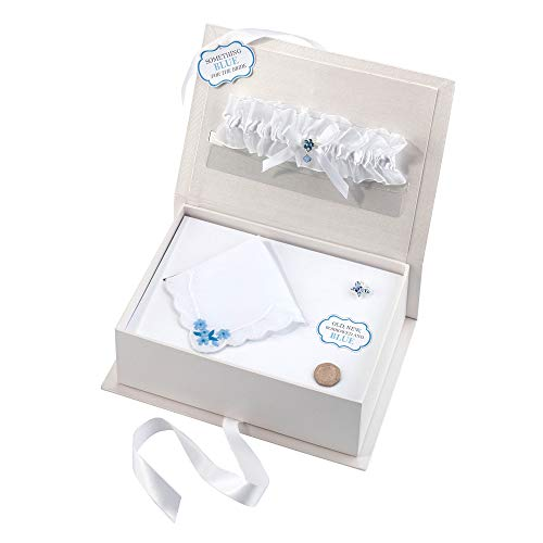 Lillian Rose BX300 BR Something Blue Bride Box, Measures 9