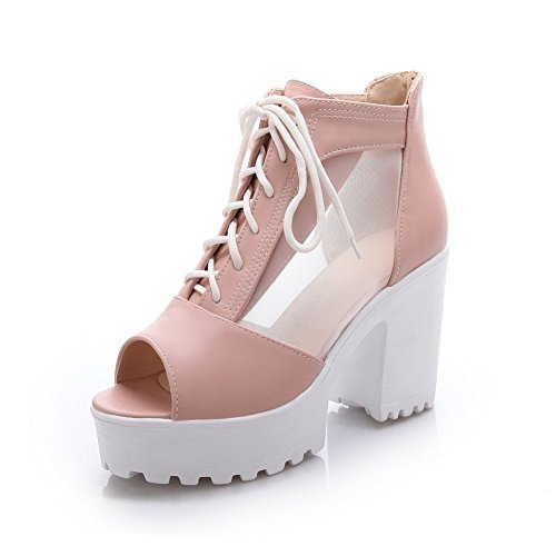 Bandage Pink Material 1TO9 Sandals Ladies Platform Soft Height qC66tpTw