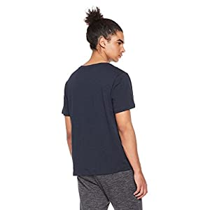 Rebel Canyon Men's Young Short Sleeve Notched V-Neck T-Shirt Large Dark Navy