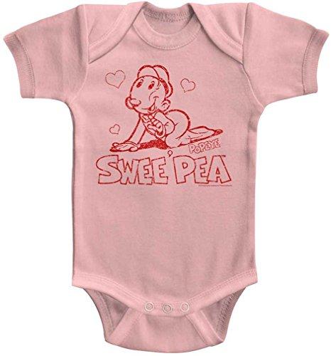DressCode Popeye - Unisex-Baby Sweet Pea Onesie, Size: 12M, Color Light Pink]()