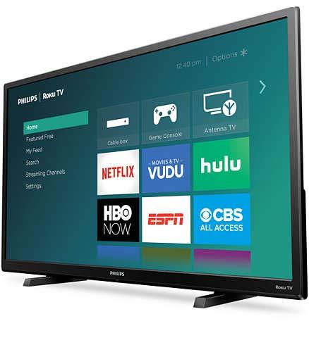 Philips 32PFL4664 Roku TV Certified Renewed