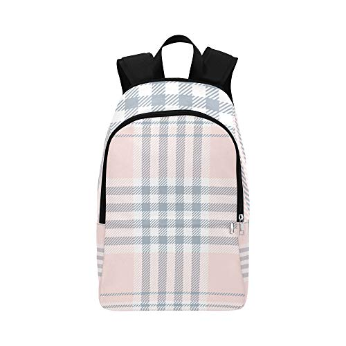 - Girls'pink Lattices Casual Daypack Travel Bag College School Backpack for Mens and Women