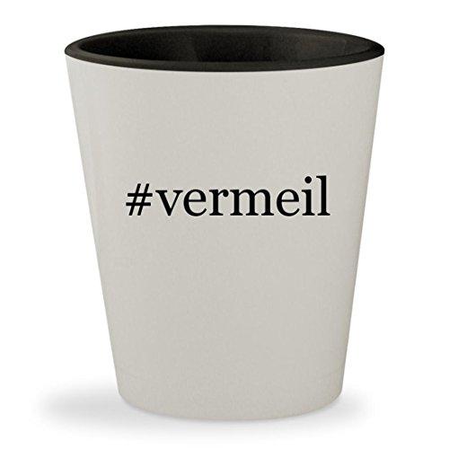 #vermeil - Hashtag White Outer & Black Inner Ceramic 1.5oz Shot (Black Vermeil Ring)