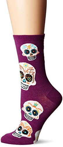 Socksmith Women's Big Muertos Skull Royal Purple Sock (Best Sugar Wax Brand)