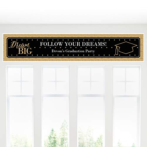 Custom Dream Big - Personalized Graduation Party Decorations Party Banner]()