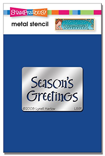 Wood New Stampendous - Stampendous DWLS91 Dreamweaver Stencil, SM Seasons Greetings