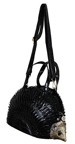Ladies Bag Shaped Shoulder Black Novelty Handbag Hedgehog wqRtPz7