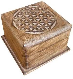 Caja mágica de Madera, Magic Box 10 x 10 x 6,5 cm, Caja secreta: Amazon.es: Hogar